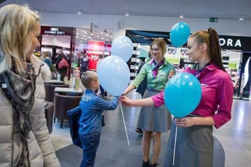 Promocja Portu Lotniczego Olsztyn Szymany w Galerii Warmińskiej w Olsztynie (1)